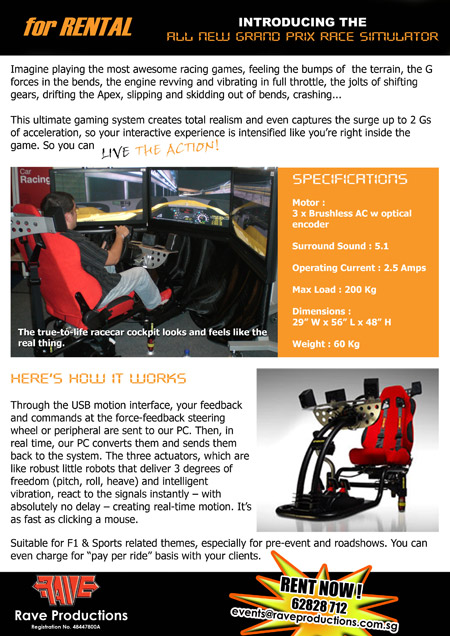 Formula1 Simulator Rental